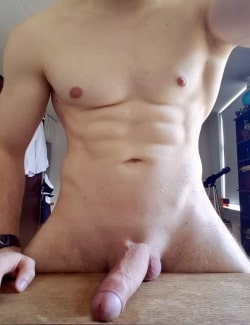 Hunky guy with a big cock