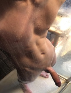 Very big smooth shaved cock